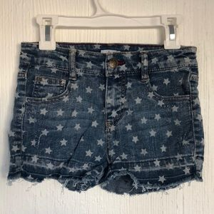 Girls Jean Shorts with Stars pattern